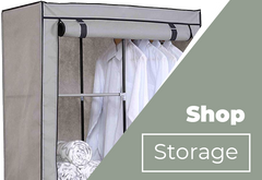 Garment Storage Closet With Shelving