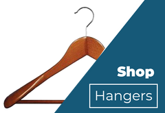 Wooden Suit Hanger with Stationary Bar