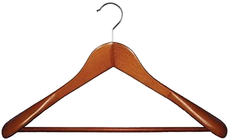 Wood Hangers Make Great Suit Hangers