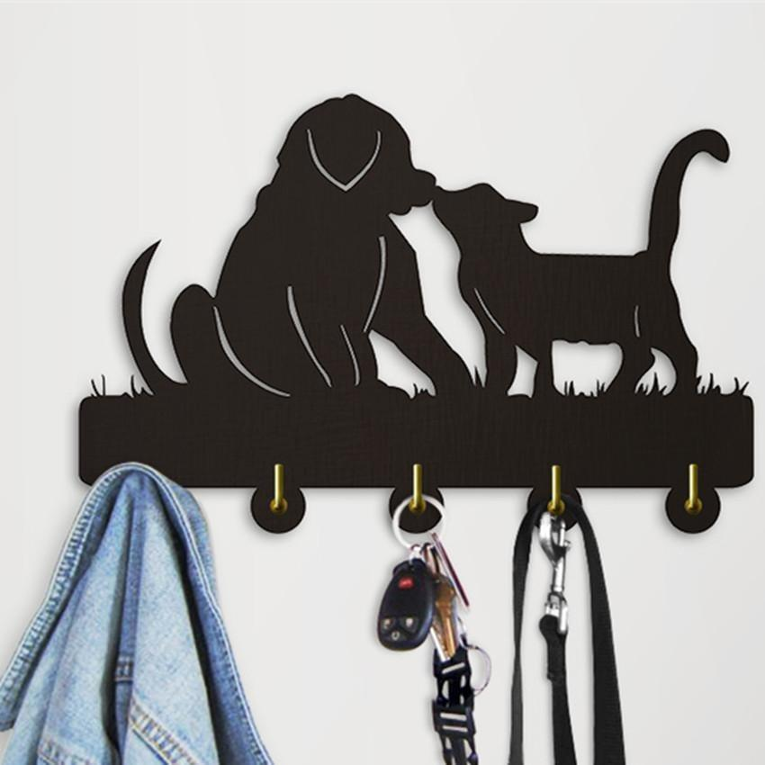 Decorative Wall Hanger - Dog And Cat Silhouette