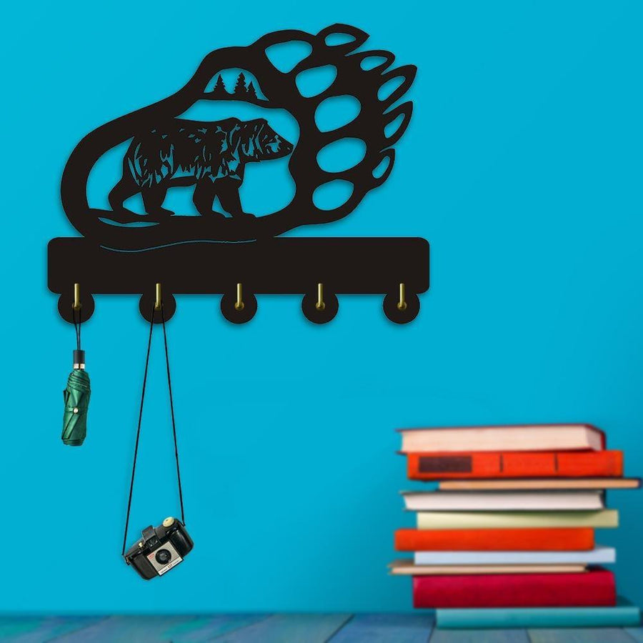 Decorative Wall Hanger - Bear Animal Shadow