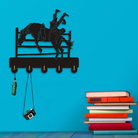 Decorative Wall Hanger - Bucking Cowboy