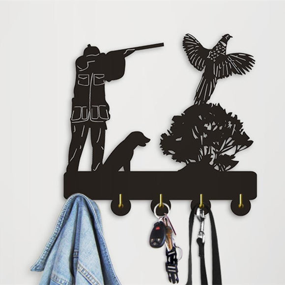 Decorative Wall Hanger - Pheasant Hunter Scene