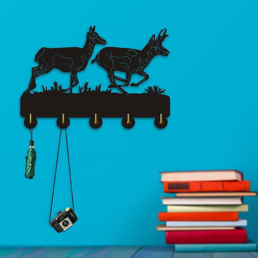 Decorative Wall Hanger - Pronghorn Scene Deer