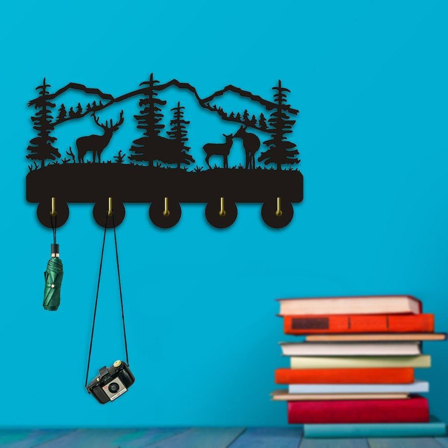 Decorative Wall Hanger - Mountain Scene Three Elk