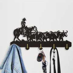 Decorative Wall Hanger - Old West Cattle Drive