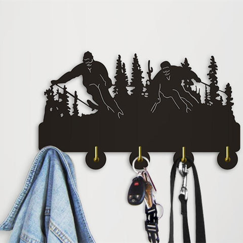 Decorative Wall Hangers - Skiers Skiing