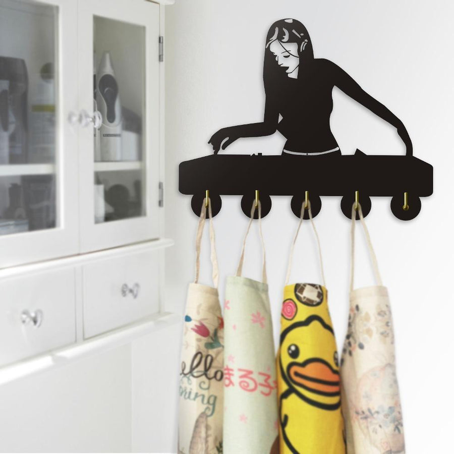 Decorative Wall Hanger - Woman DJ Club