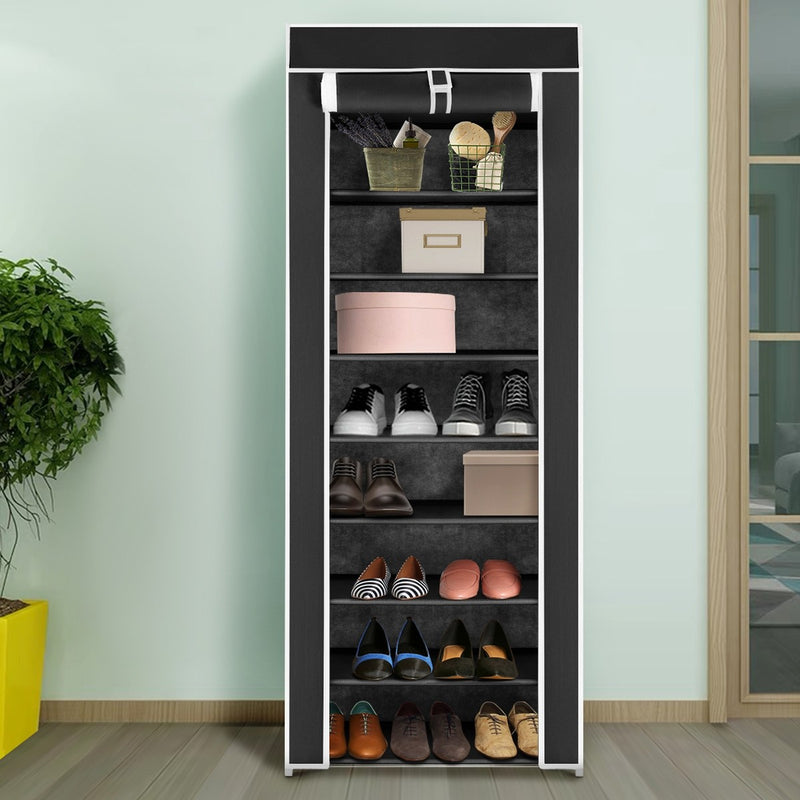 10 Tier Shoe Rack with Fabric Cover