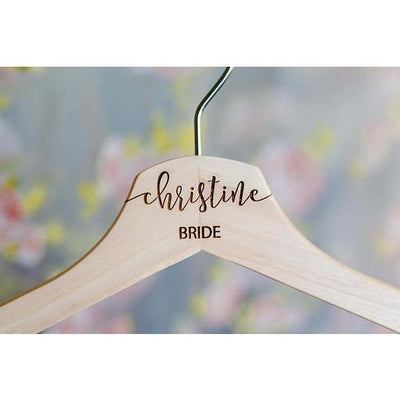 Laser Engraved Bridesmaid Hanger (Custom)
