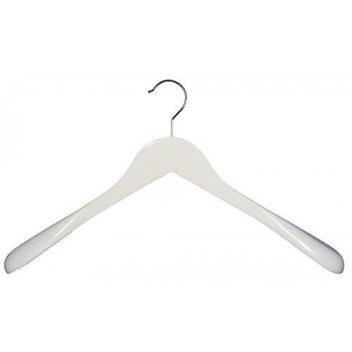 Wooden Shirt Hangers - White - 18""