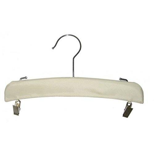 Satin Hangers - Drop Clips - Ivory - 10 1/2""