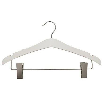 Wooden Suit Hangers - Low Gloss White - 17""
