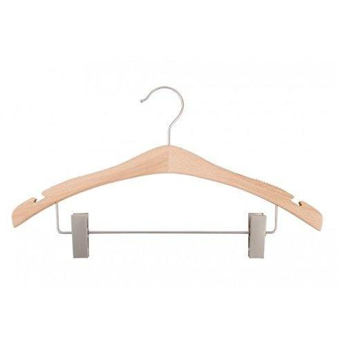Wooden Suit Hangers - Low Gloss Beech - 17""