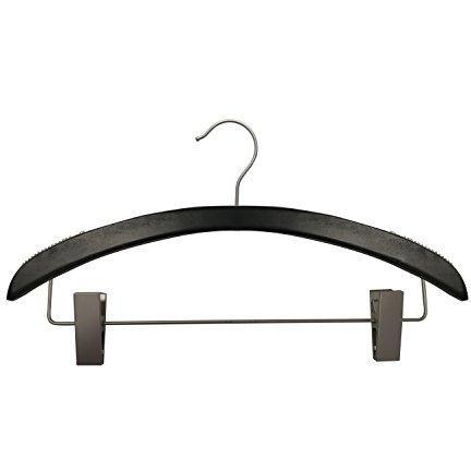 Wooden Suit Hangers - Low Gloss Black - 16""