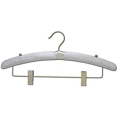 Satin Hangers with Clips - Ivory - 15 1/2
