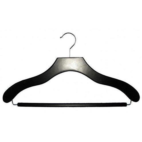 Wooden Suit Hangers - Black - 17""