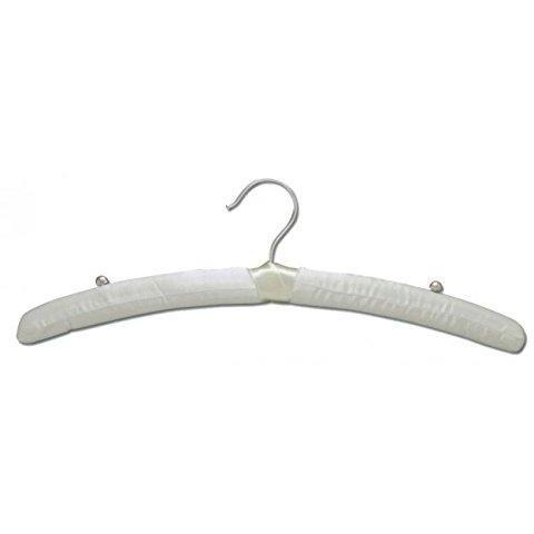 "Satin Hangers - Ivory - 15 1/2"" - Pack of 12"