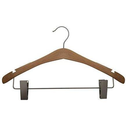 Wooden Suit Hangers - Low Gloss Natural - 17""