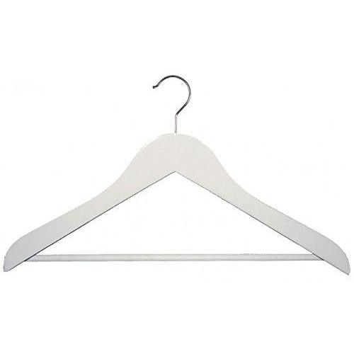 Wooden Suit Hangers with Stationary Bar - White - 17 ½""