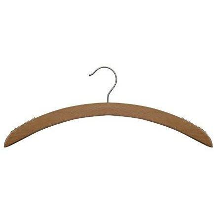 Wooden Shirt Hangers - Low Gloss Beech - 16""