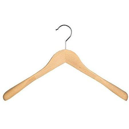 Wooden Shirt Hangers - Natural - 18""