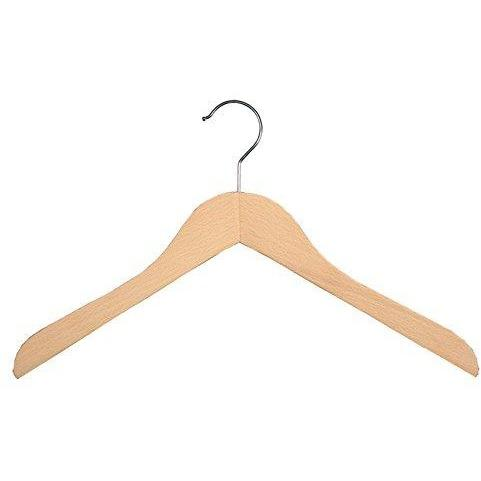 Wooden Shirt Hangers - Natural - 17 ½""