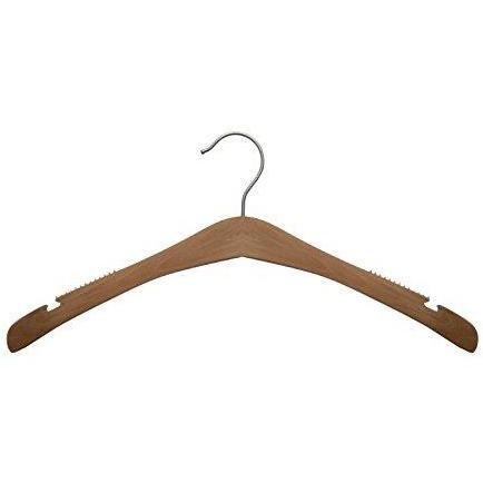 Wooden Shirt Hangers - Low Gloss Natural - 17""