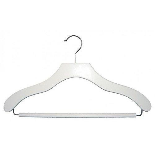Wooden Suit Hangers - White - 17""