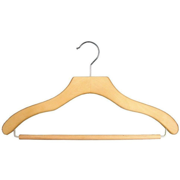 Wooden Suit Hangers - Natural - 17""