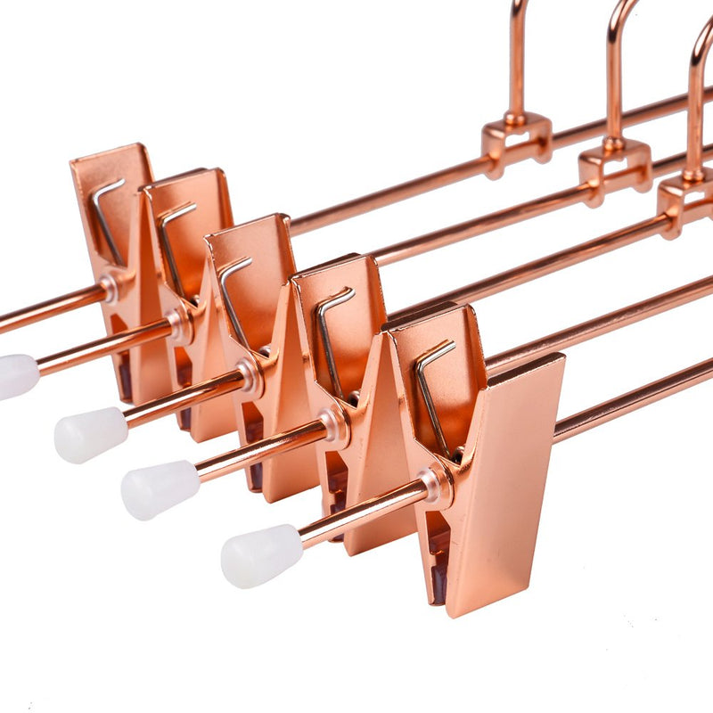 Rose Copper Gold Metal Pants & Skirt Hangers - 5 Pack