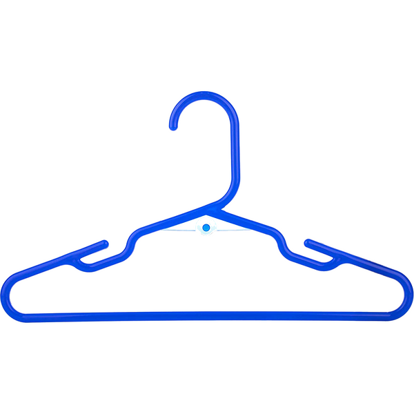 Blue Baby Kids Children's Plastic Hangers - Made in the USA