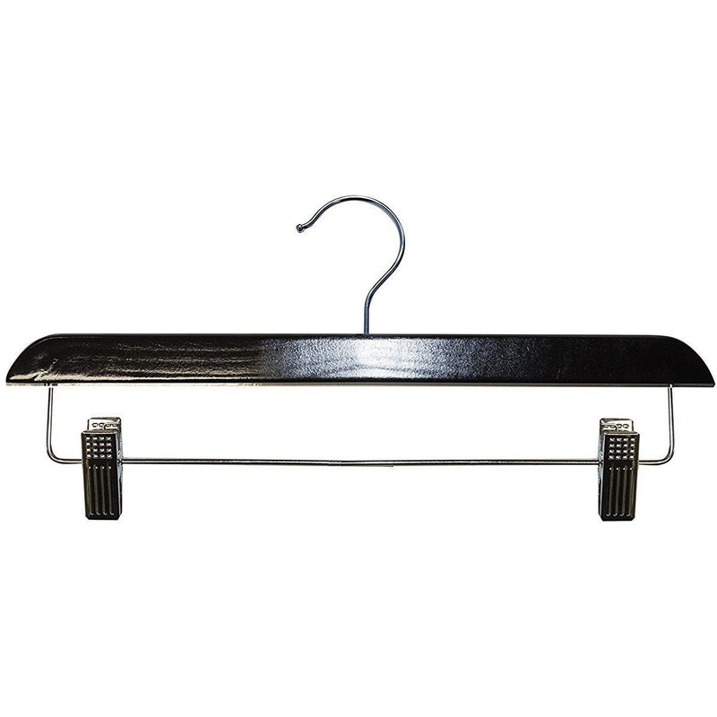 Wooden Skirt/Pant Hangers - Black - 14""