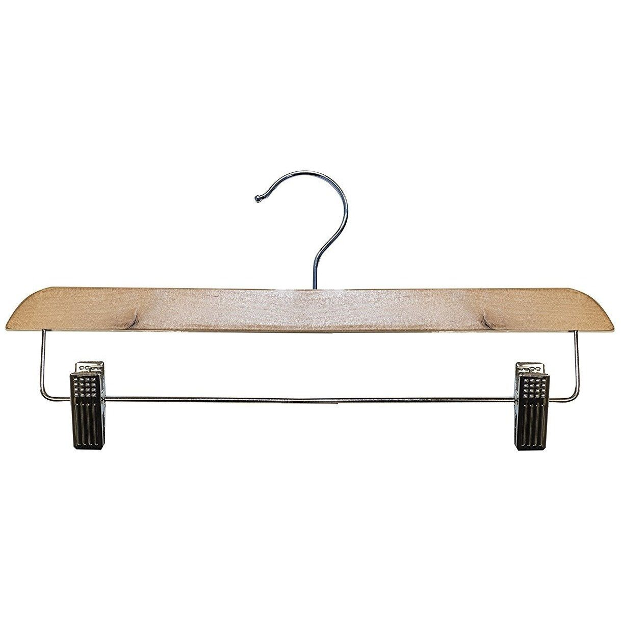 Wooden Skirt/Pant Hangers - Natural - 14""