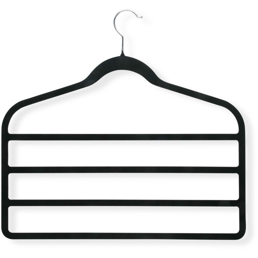 Black Velvet Touch 4-step Hanger 4-pack