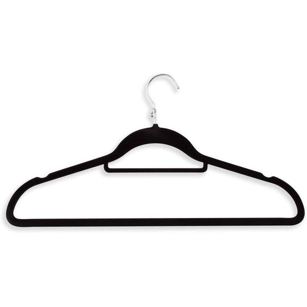 Black Velvet Touch Cascading Suit Hanger 18-pack