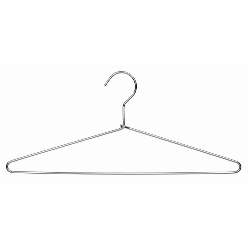 Polished Chrome Metal Top or Suit Hangers (Box of 100)