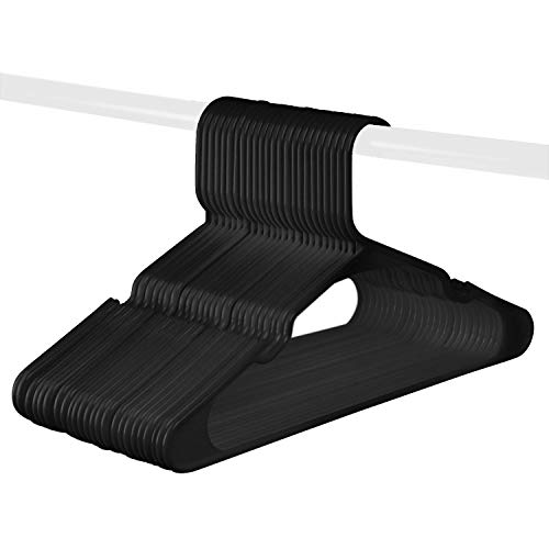 Black Standard Plastic Hangers, Made in The USA