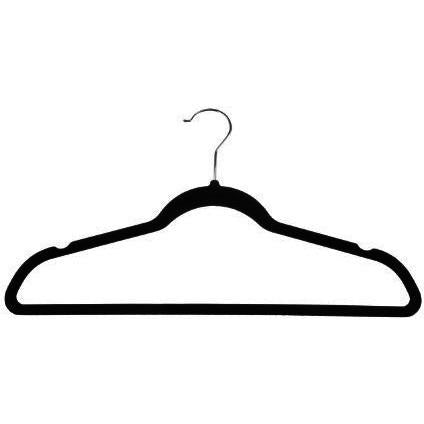 Velvet Suit Hangers - Black - 10 Pack