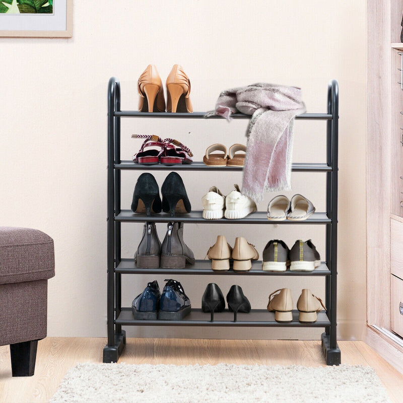 5 Tier Metal Shoe Organizer Rack. Space saving