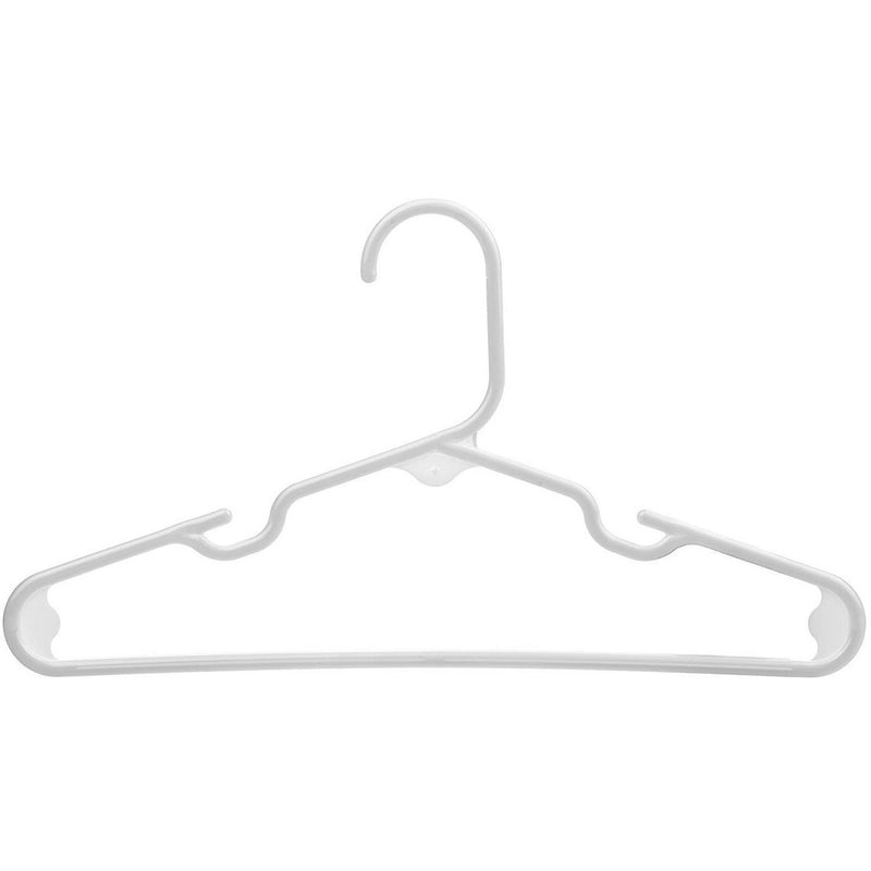 White Baby Kids Children's Plastic Hangers - Made in the USA