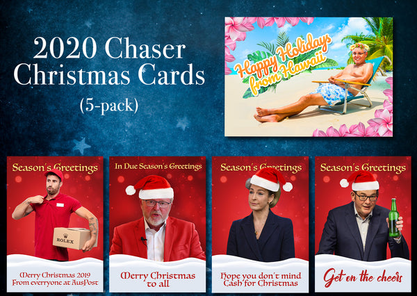 The Chaser's 2020 Christmas Cards