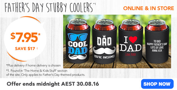 $7.95 Father's Day Stubby Cooler