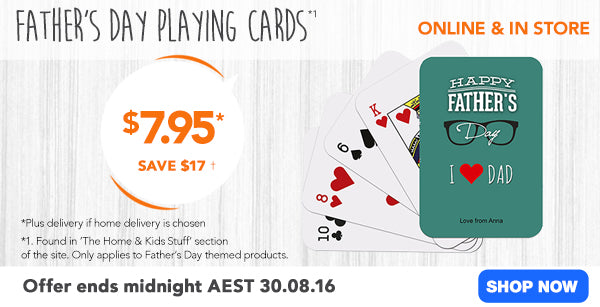 $7.95 Father's Day Playing Cards
