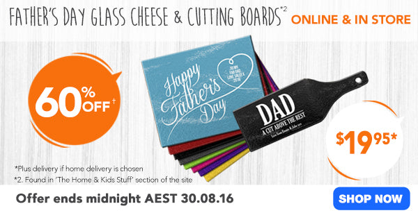 60% off Glass Chopping and Cheese Boards