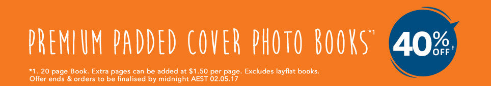 Premium Padded Cover Photo Books offer - ends 02.05.17