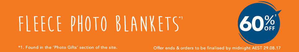 Category Photo Blanket offer - ends 29.08.17