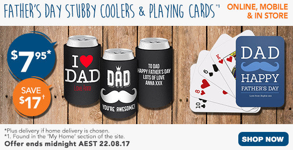 Father's Day Stubby Coolers & Playing Cards