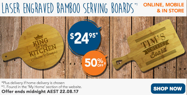Father's Day Bamboo Serving Boards