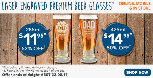 Father's Day Premium Beer Glasses